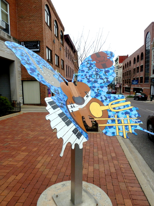 Musical Instruments - Butterfly Sculpture Theme - Hagerstown, MD