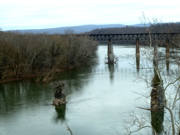 Bridge remnants from the 1936 flood - Potomac - state line WV & MD